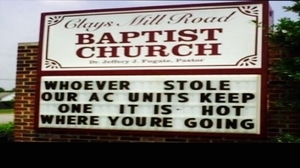 Who the hell steals AC from a church?