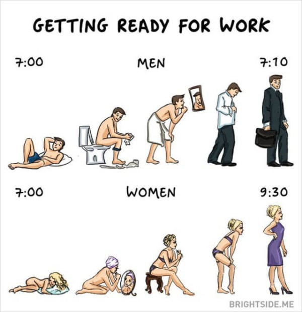 Funny Silly Difference Between Men And Women 4 Pics