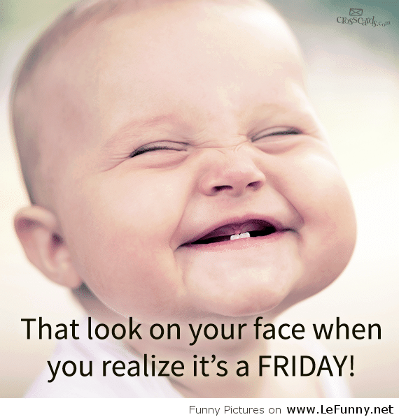 Funny Happy Friday Face