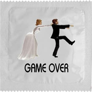 Best condom packaging: Game Over