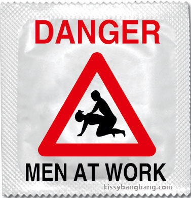 Best condom packaging: DANGER men at work