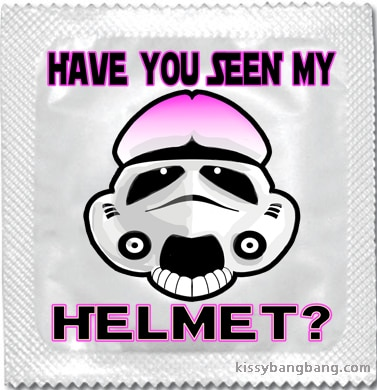 Best condom packaging: Have you seen my helmet