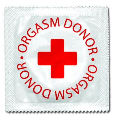 Best condom packaging: Orgasm Donor