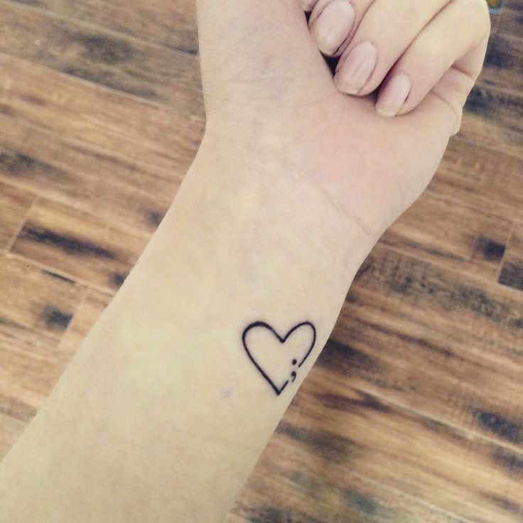 11 incredibly cute semicolon tattoo ideas never shutup. Black Bedroom Furniture Sets. Home Design Ideas