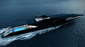 The Sleek Black Swan Superyacht Concept by Timur Bozca.